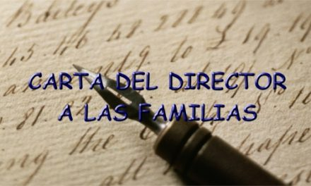 CARTA DEL DIRECTOR A LAS FAMILIAS
