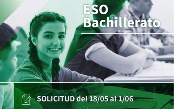 NUEVO CALENDARIO DE ADMISIÓN Y MATRICULACIÓN EN ESO Y BACHILLERATO