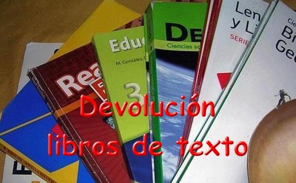 DEVOLUCIÓN DE LIBROS DE TEXTO