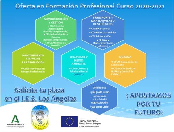OFERTA EN FORMACIÓN PROFESIONAL CURSO 20/21