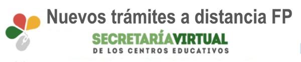 TRÁMITES FP EN SECRETARÍA VIRTUAL