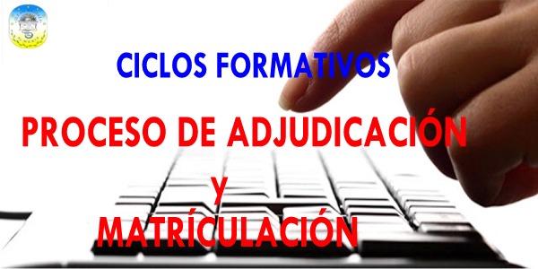ADJUDICACIÓN ÚNICA A CICLOS FORMATIVOS (PROCEDIMIENTO EXTRAORDINARIO)