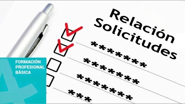 RELACIÓN DEFINITIVA DE SOLICITANTES FORMACIÓN PROFESIONAL BÁSICA