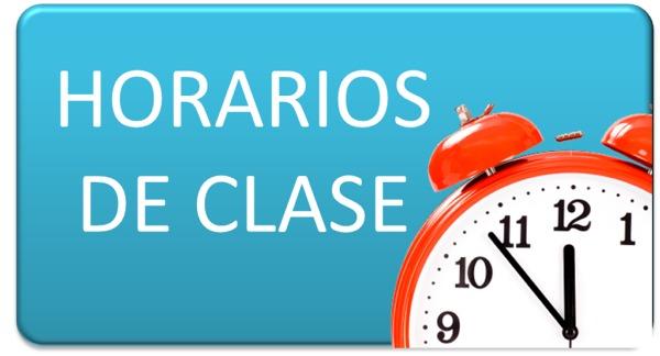 HORARIO DE CLASES 2020-2021