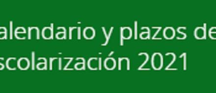 CALENDARIO MATRICULACIÓN CURSO 21/22